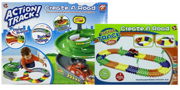 MasterHome Baby ACTION-TRACK-ROTARY+CREATE A ROAD! 192Pz