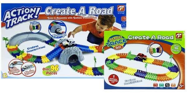 MasterHome Baby ACTION TRACK+TUNNEL+CREATE A ROAD 192Pz