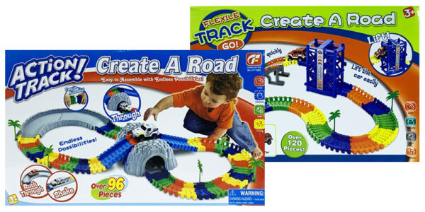 MasterHome Baby ACTION TRACK TUNNEL CREATE A ROAD! LIFT 216Pz