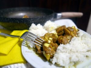 pollo al curry wok